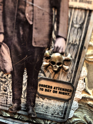 Sara Emily Barker https://sarascloset1.blogspot.com/2018/10/the-undertaker-and-little-giveaway.html Halloween Card with Tim Holtz Giveaway 4