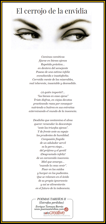 Poemas De 3 O Mas Estrofas Www Poemastardios Com El Cerrojo De La Envidia