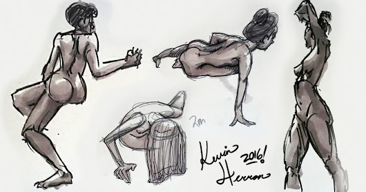Figure Drawing from Blue Sky 2016