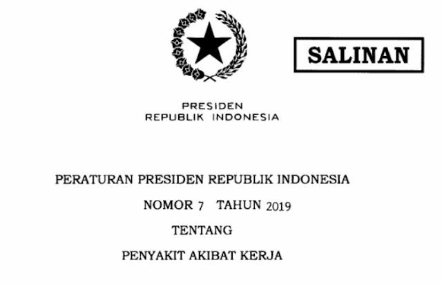 Peraturan Presiden Nomor 7 tahun 2019