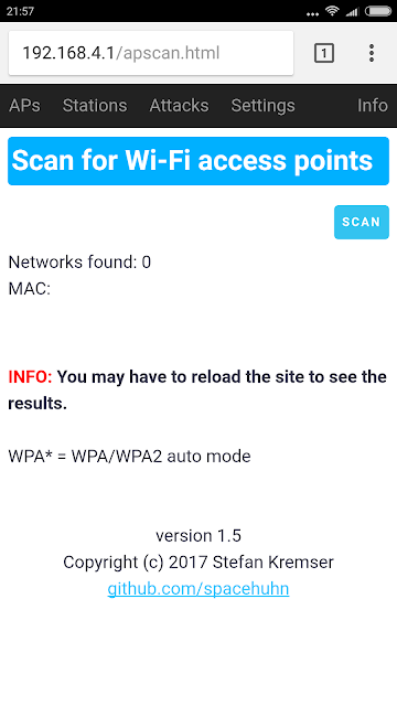 Scansione degli Access Point