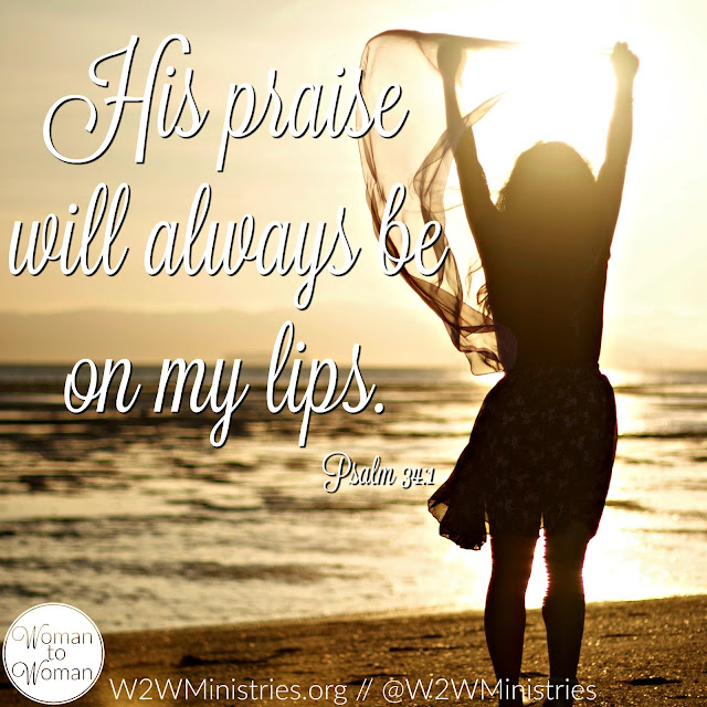 I will extol the Lord at all times; His praise will always be on my lips. Psalm 34:1 I would love to say that it is; but that isn't always the case. #praise