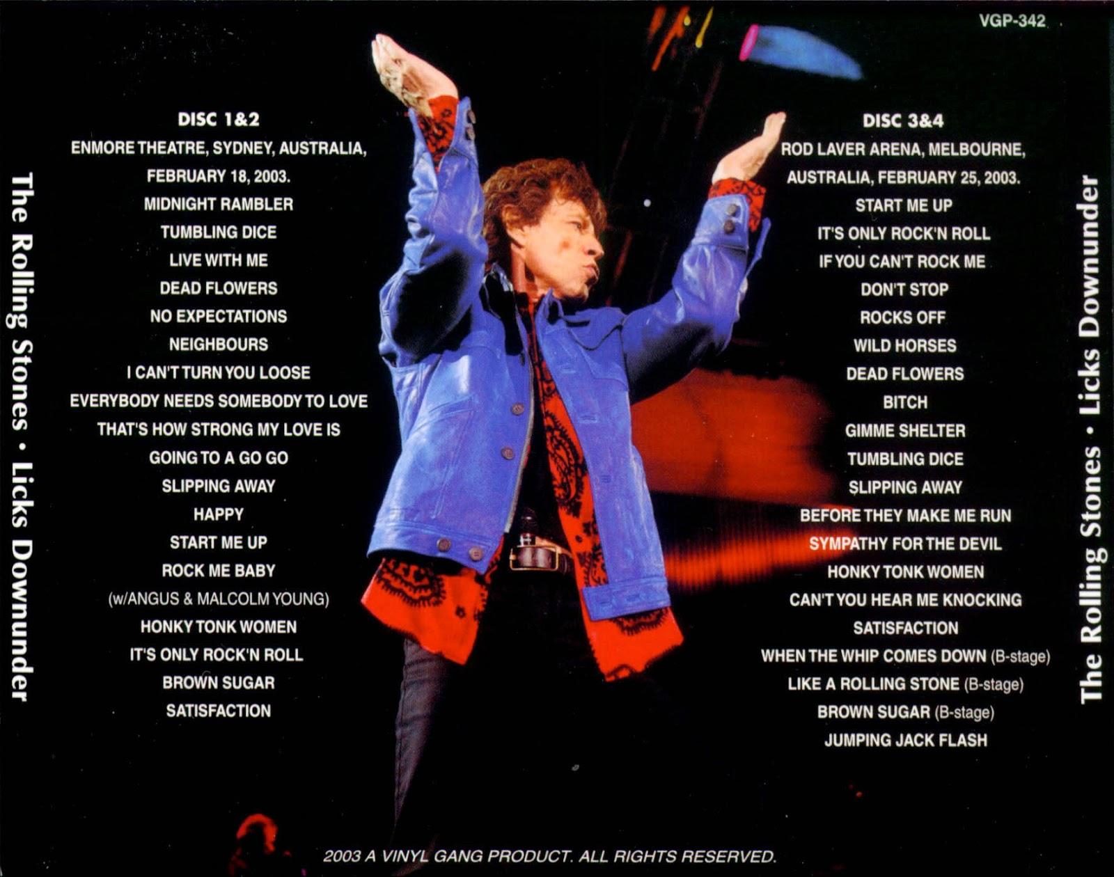 Bootleg Rambler: The Rolling Stones - 2003-02-18 Sydney+2003