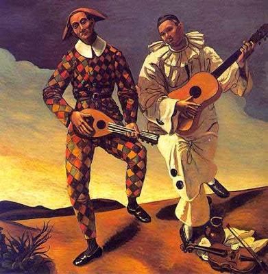 Harlequin e Pierrot - André Derain e suas principais pinturas ~ (Fauvismo) Francês