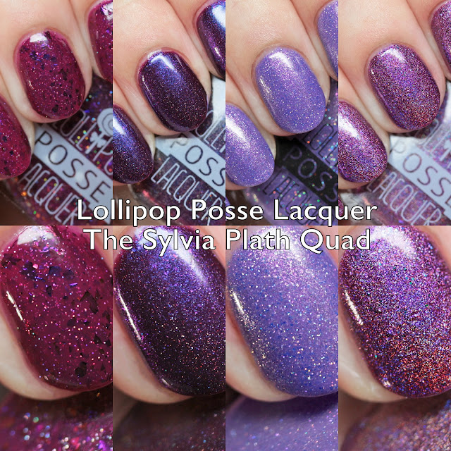 Lollipop Posse Lacquer The Sylvia Plath Quad