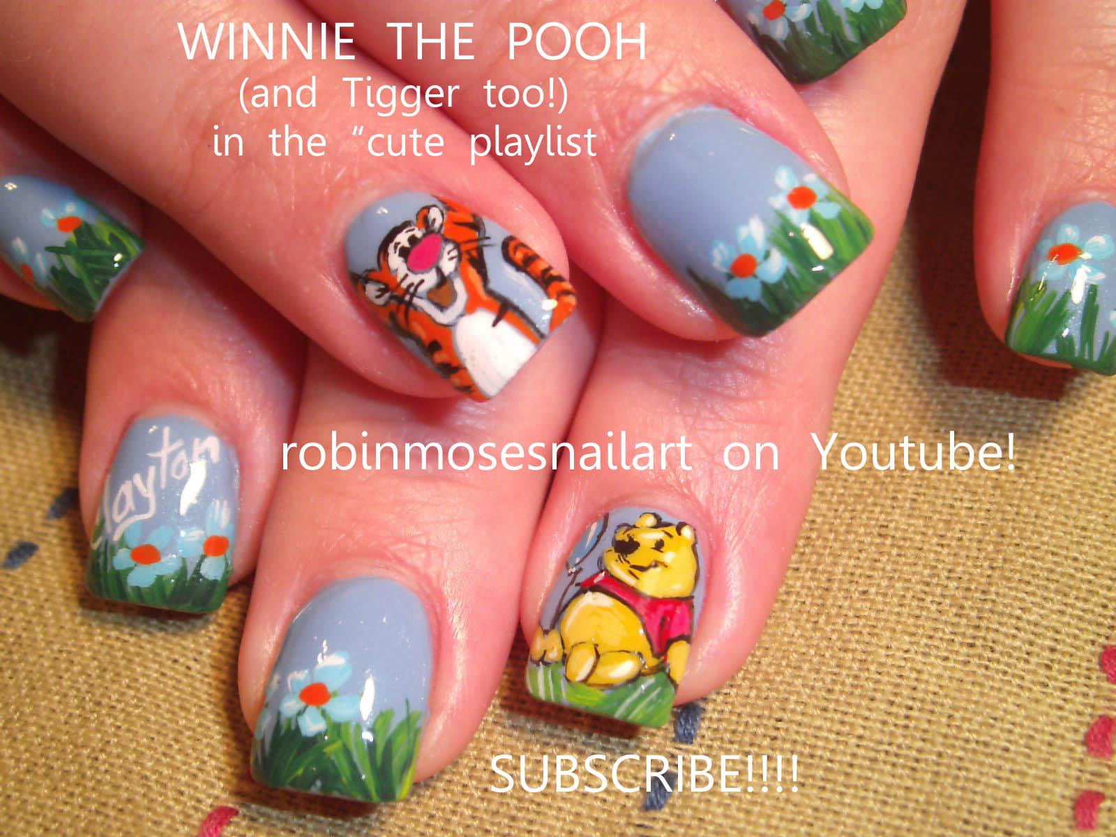 Nail Art By Robin Moses Winnie The Pooh Design Winnie The Pooh