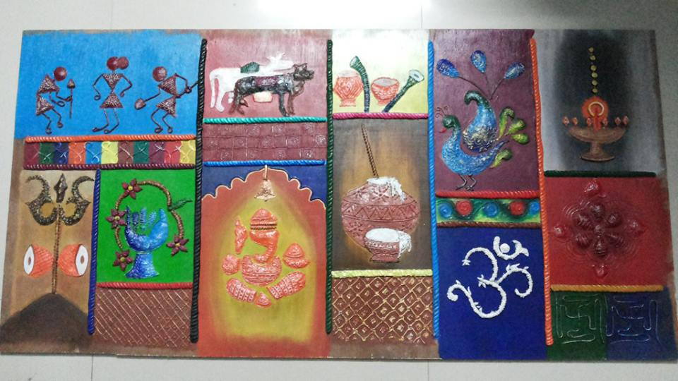 Paper Mache Wall Frame & ANKINISH Creations: Paper Mache Wall Frame