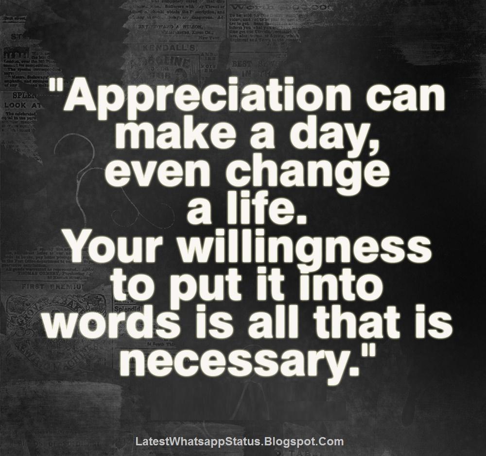 appreciation gratitude quotes and status whatsapp status quotes