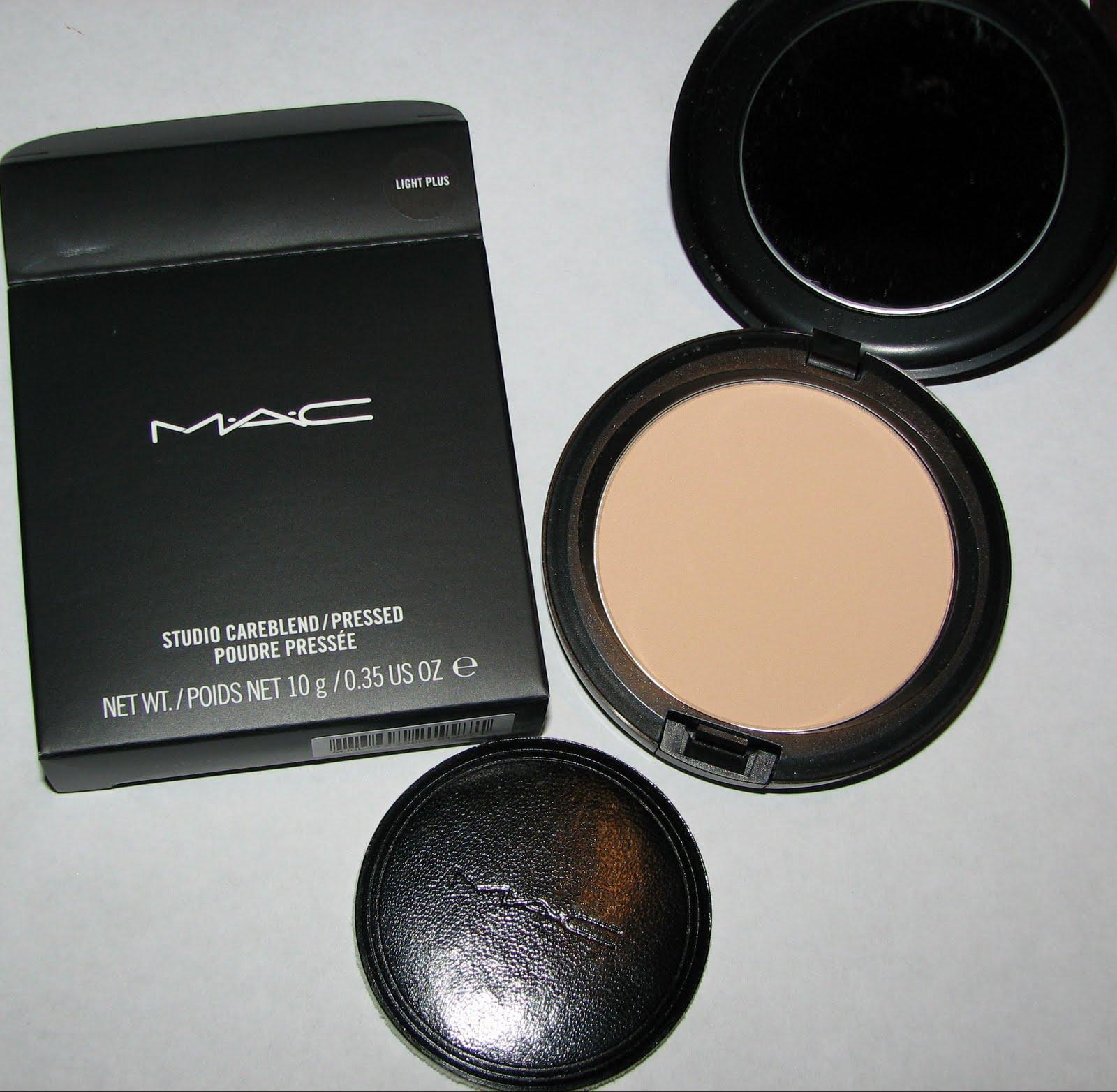 MAC LIGHT PLUS Studio Careblend/Pressed Powder Swatches ...
