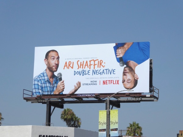 Ari Shaffir Double Negative billboard