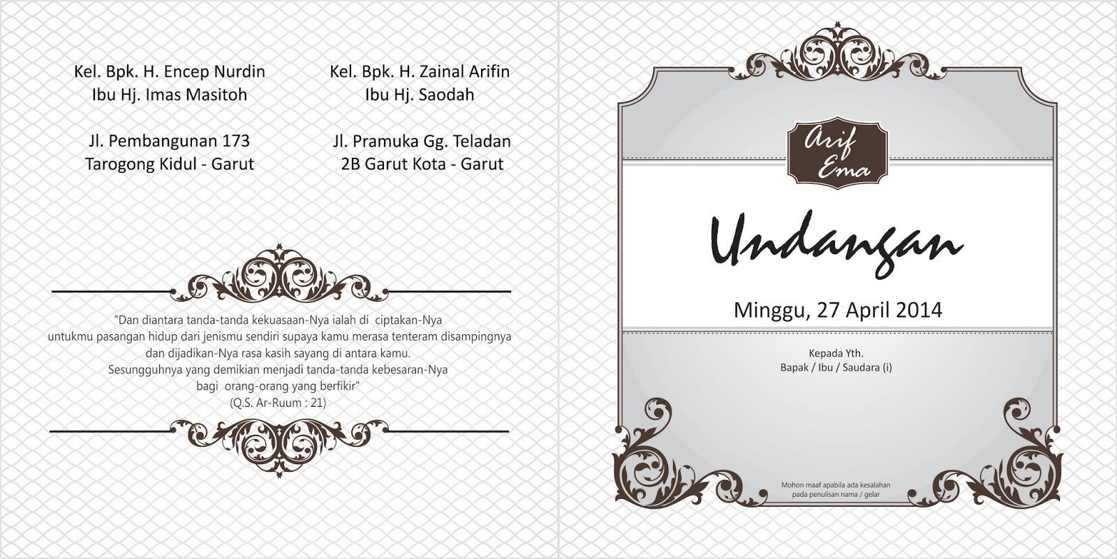 undangan pernikahan soft cover elegan - Desain Kampungan