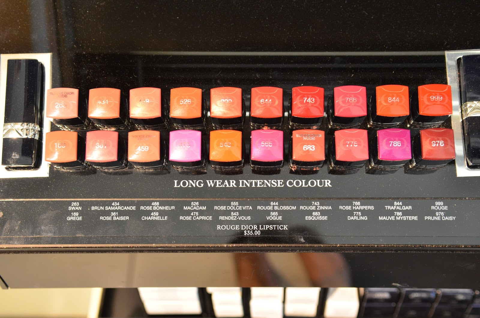 Rouge Dior Swatches of All Shades