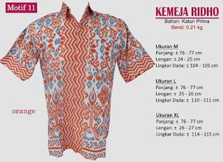Grosir kemeja batik pria murah dan berkualitas (batik pekalongan)- ridho motif 11