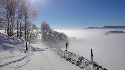 Winterlandschaft mit Nebelmeer