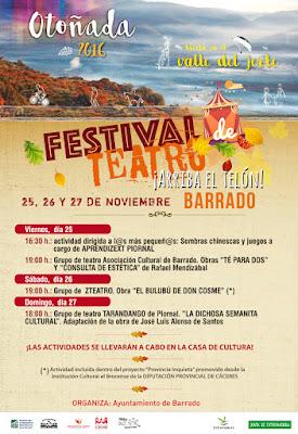 Festival de Teatro en Barrado (25 a 27 de noviembre)
