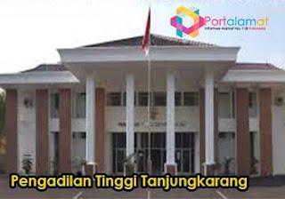 Alamat Pengadilan Tinggi Tanjungkarang