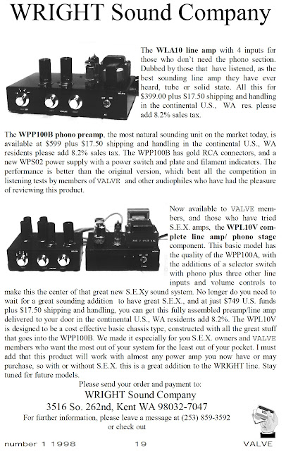 Wright Sound Company Advert