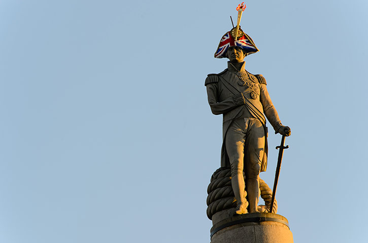 admiral lord nelson trafalgar square