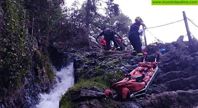 Rescatada ayer una senderista en Marcos y Cordero