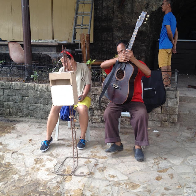 Blind musicians at Fort San Pedro in Cebu City