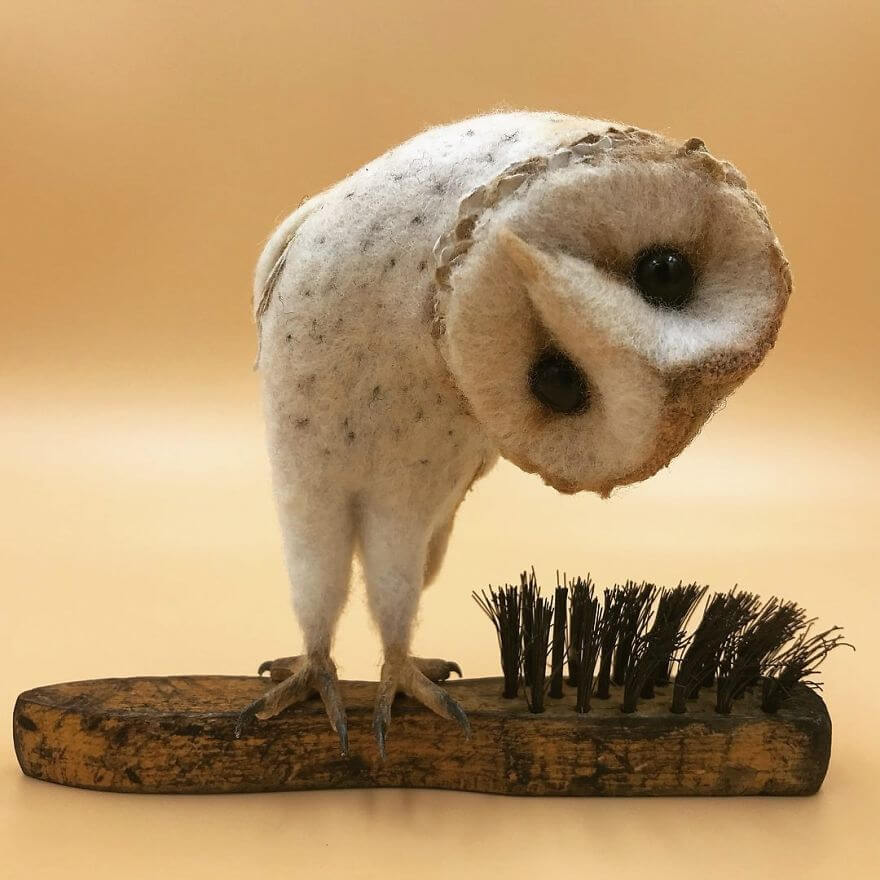 14 Impressive Artworks Created By Needle Felt Artist