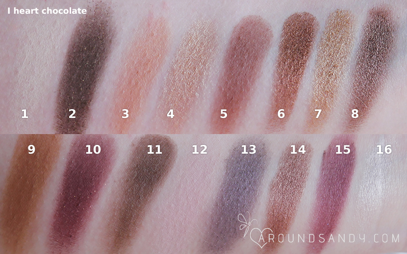 swatches i heart chocolate palette paleta de i heart makeup chocolate bar clon