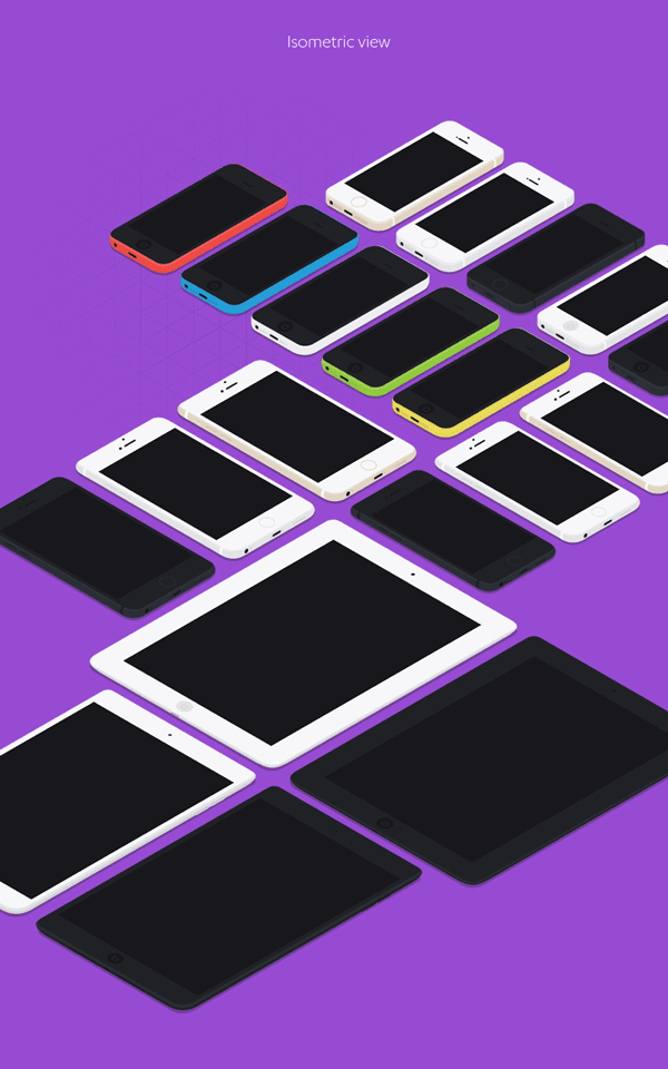 Flat Apple Devices MockUp