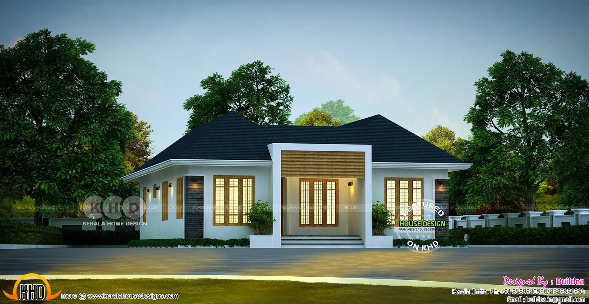 1288 Square Feet 3 Bedroom Home In Beautiful Look Kerala Home Design Bloglovin