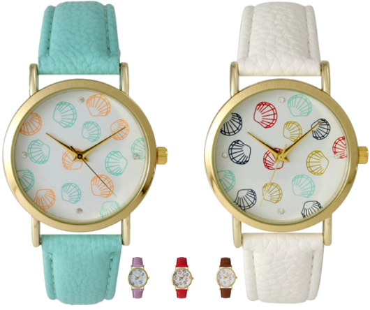 Sea Shell Women's Watches in Different Colors