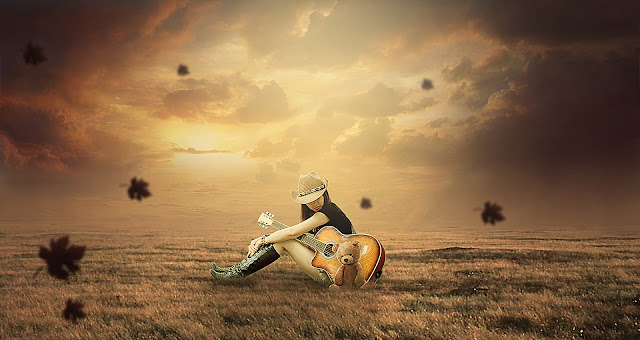 GUITAR GIRL PHOTOSHOP MANIPULATION