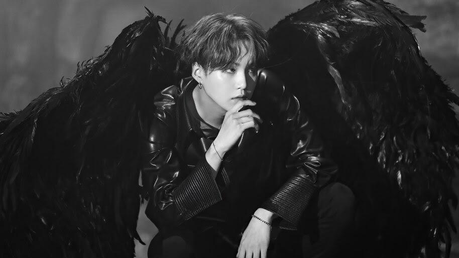 BTS, Suga, Black Wings, Map of the Soul 7, 4K, #6.690