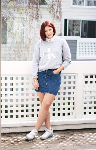 Casual outfit, ootd, wiwt, Fashion Blogger, Calvin Klein, American Apparel