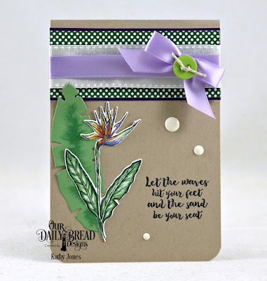 Our Daily Bread Designs Stamp Set: Aloha, Custom Dies:  Bird of Paradise, Tropical Leaves, Paper Collection: Boho Bolds