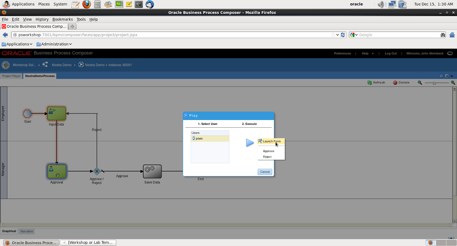 Nostra Technology: Oracle BPM Composer 12c - Create Process