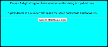 Javascript Palindrome