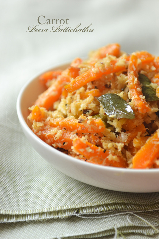 Kerala vegetarian recipes kurryleaves carrot peera pattichathu forumfinder Image collections