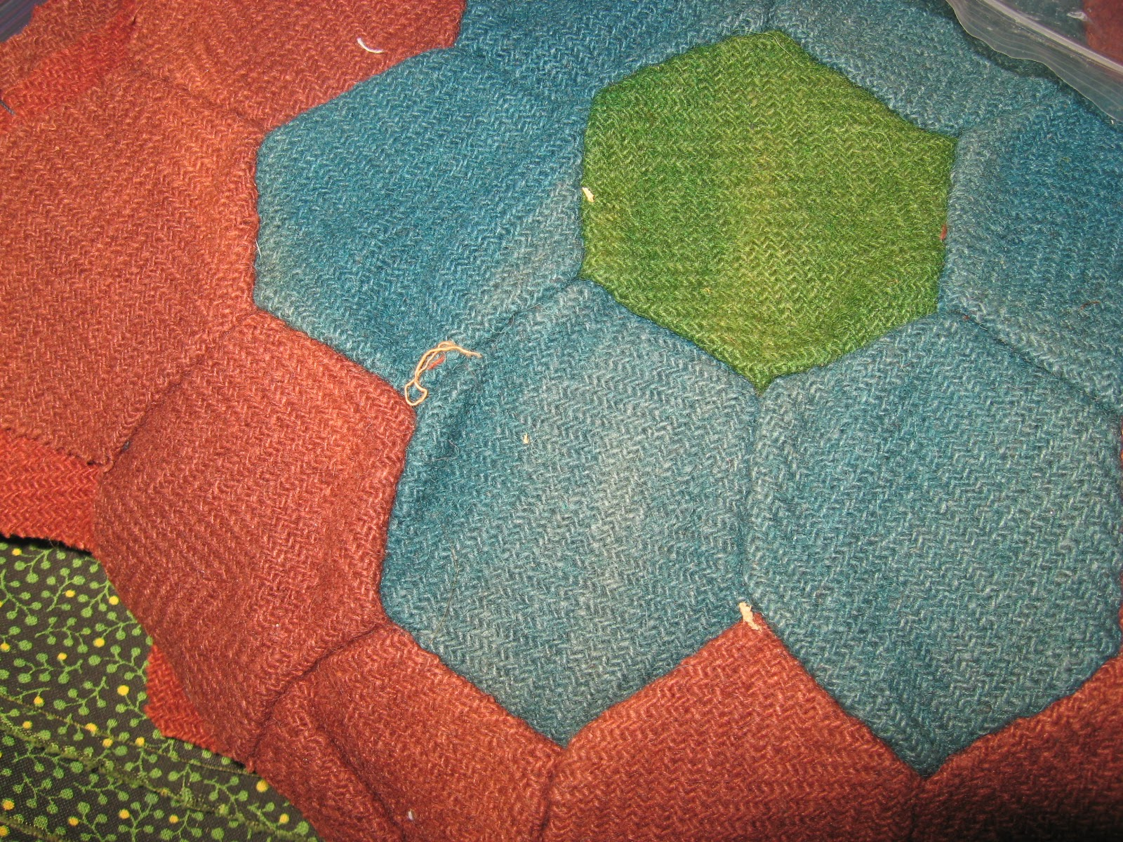 Wool Hexagon blocks
