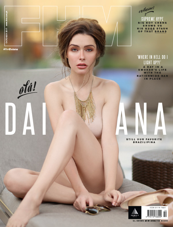 Daiana Menezes on the cover of FHM's October 2017 issue