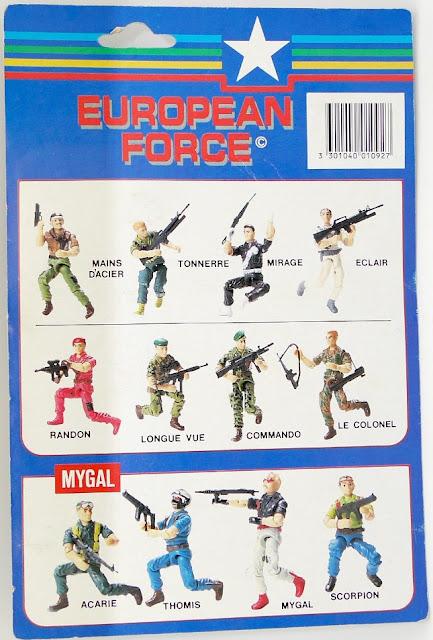 European Force, France, Bootlegs, MyGal, Tonnerre, Mirage, Le Colonel, Thomis, Scorpion, Longue Vue, Eclair, Acarie, MOC, Carded, Rendon, Mains Dancier, Commando