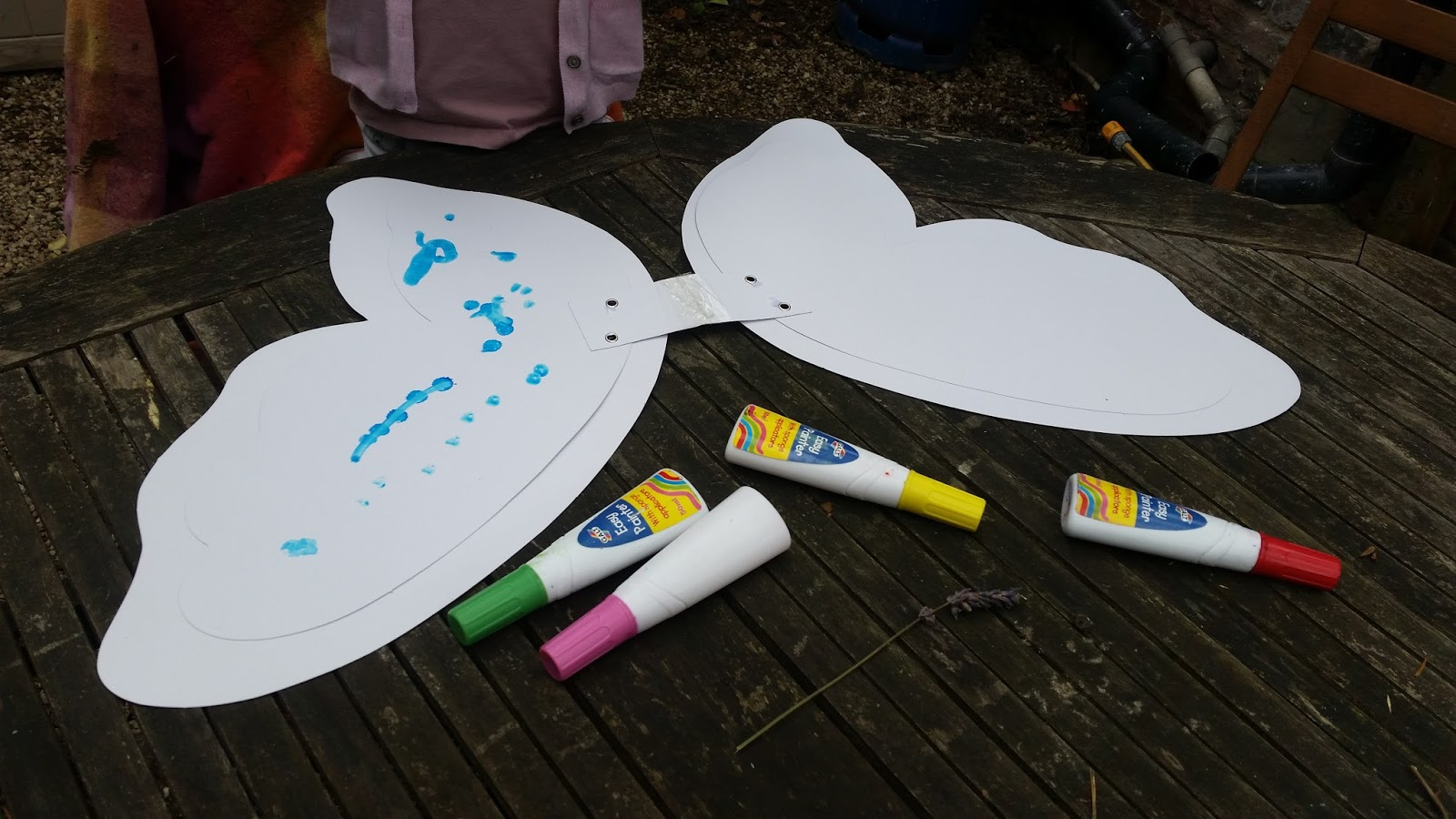 Butterfly and Fairy Wings craft - Worms Eye View % % %