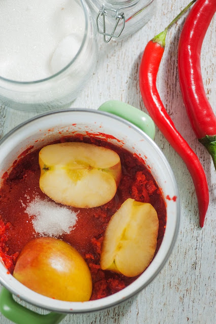 Easy Chili Jam, a sweet and tangy sauce for sandwiches, cream cheese or crackers.