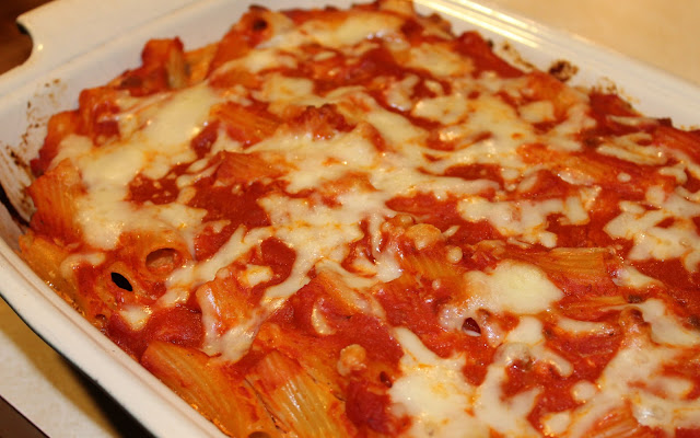 Ziti Bake Ready to Serve