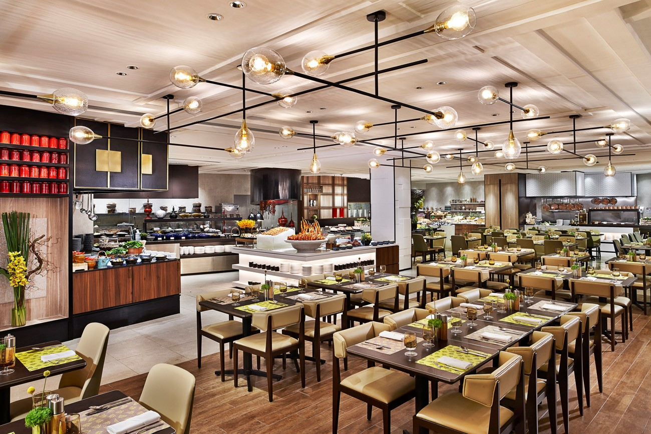 The Restaurant Is Por For Its Extensive Buffet Selections And Theatre Kitchens Where Local International Specialities Are Prepared A La Minute