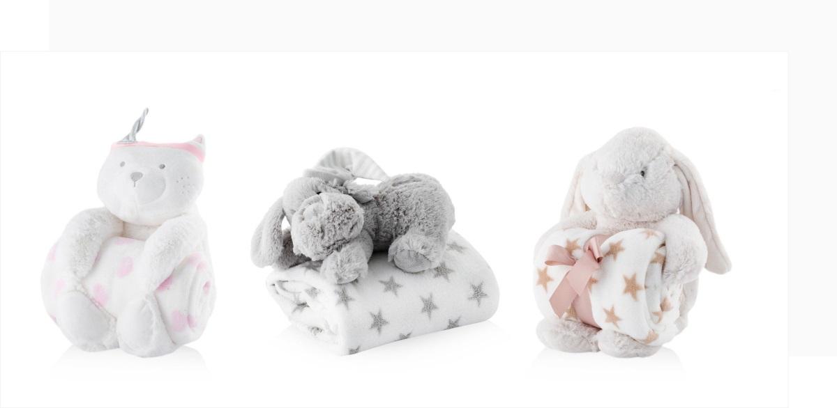 Piękne dodatki do pokoju dziecka - koc i poduszka