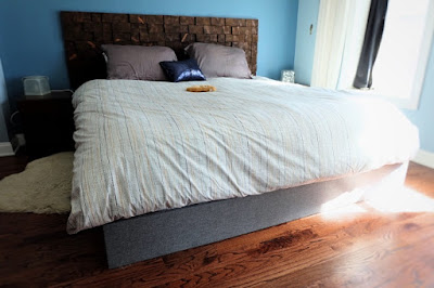 Faux Bed Frame Box Spring Cover In Lieu Of A Bed Skirt