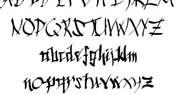 calligraphy+font+download2 Old English Letters Lowercase Template on cut out, stencils free printable,