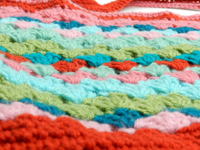 colorful crochet bag