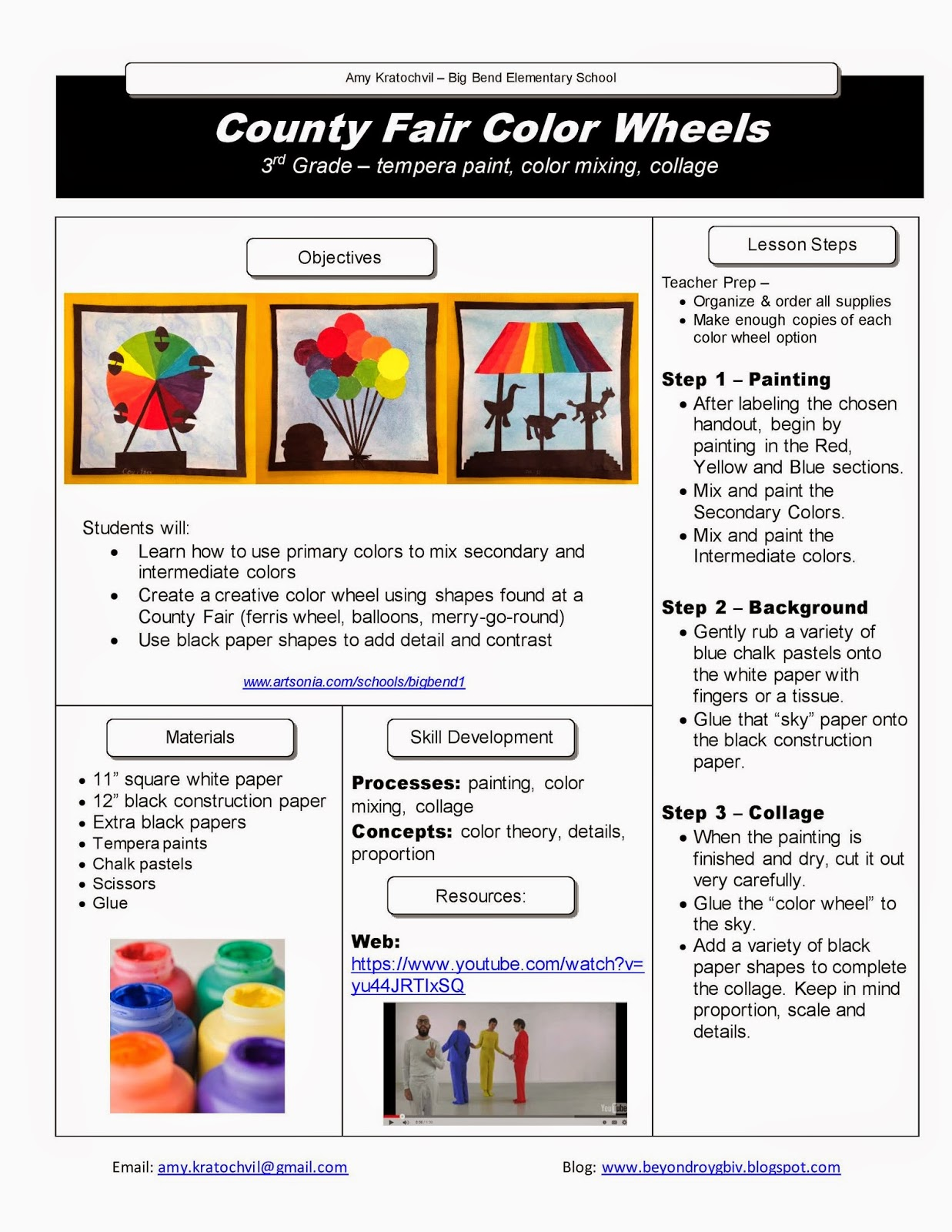 Beyond Roy G Biv Free Lesson Plan 3 County Fair Color