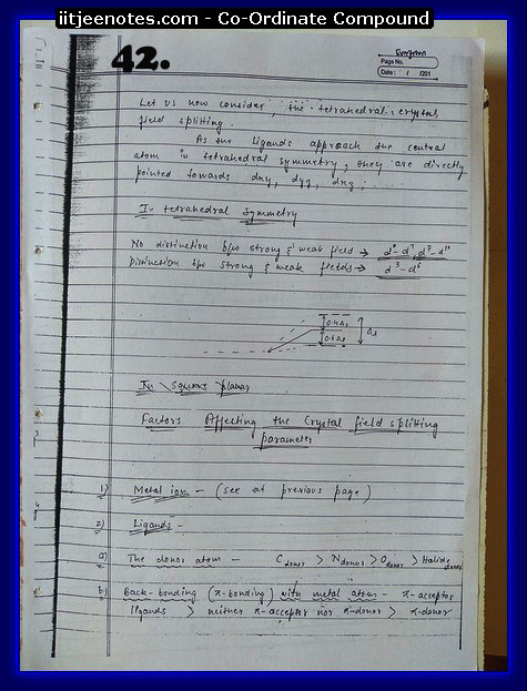 coordinate compound chemistry notes2