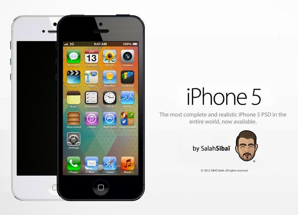 Apple iPhone 5 Mockup Design